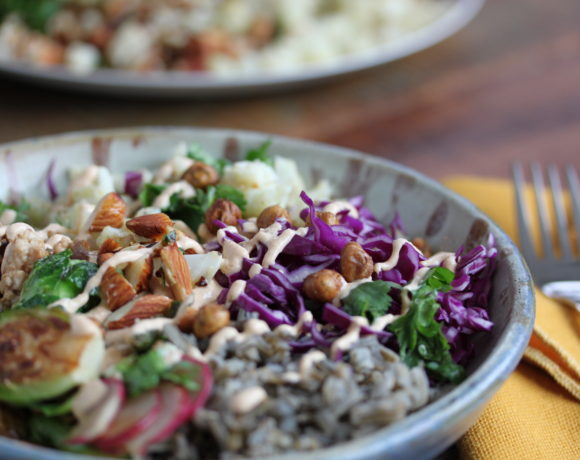 Turkey Buddha Bowl with Smoky Tahini Sauce
