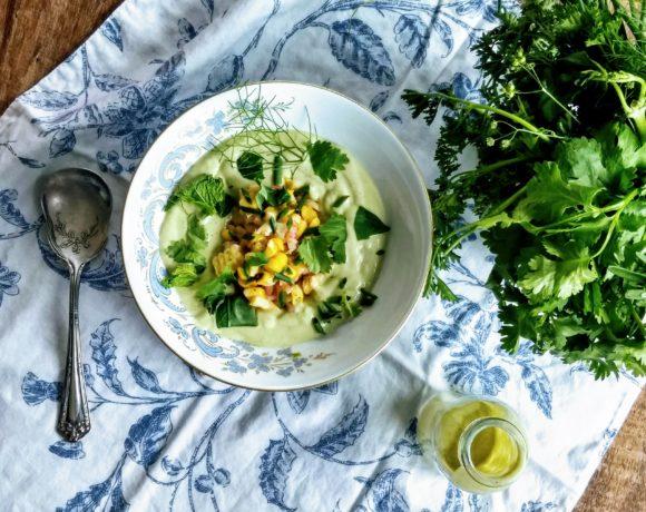avoado corn soup