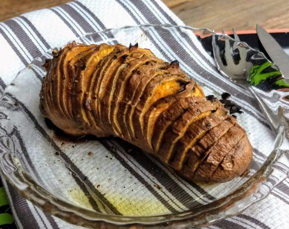 garlic baked sweet potato
