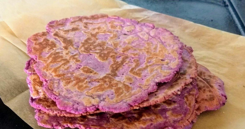 Quick Gluten Free Sweet Potato Flatbread (think tortilla!)