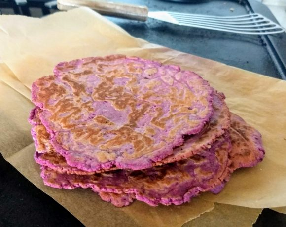 Quick Gluten Free Sweet Potato Flatbread (think tortilla!)