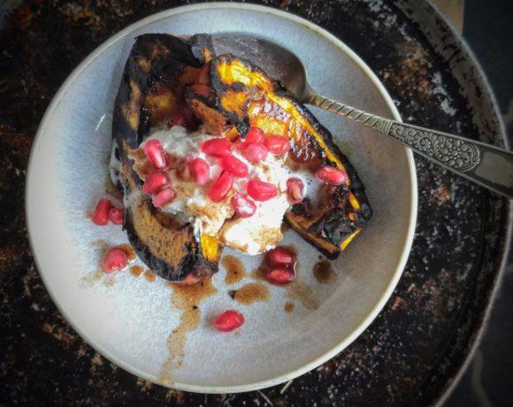 grilled spiced pumpkin dessert