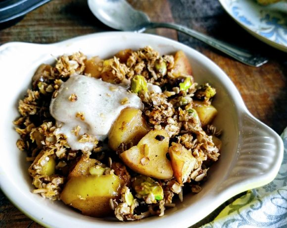 skillet apple granola