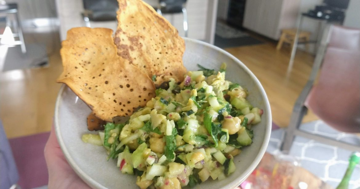 salad from chickpeas