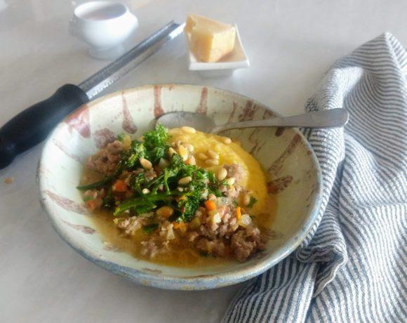 sausage ragu over polenta