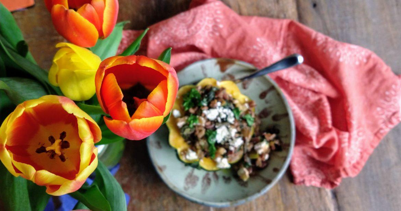 tulips with stuffed squash