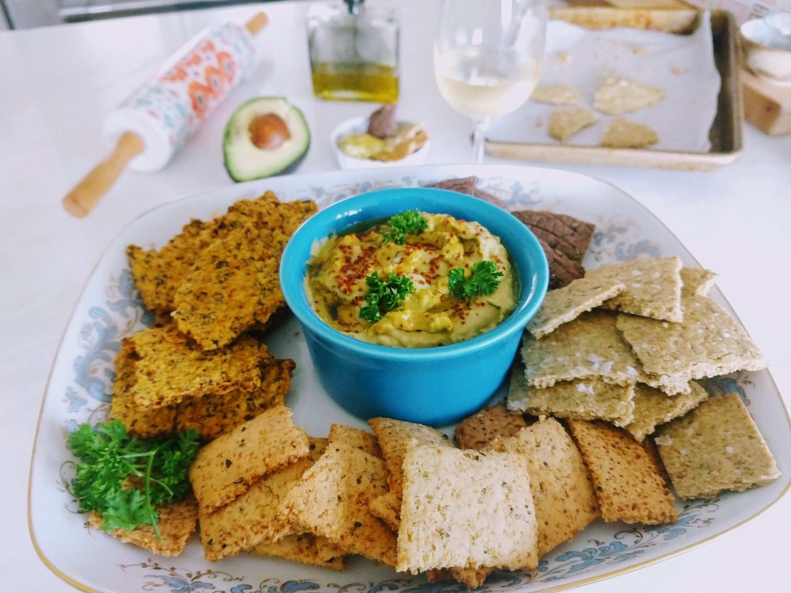 crackers from lentils