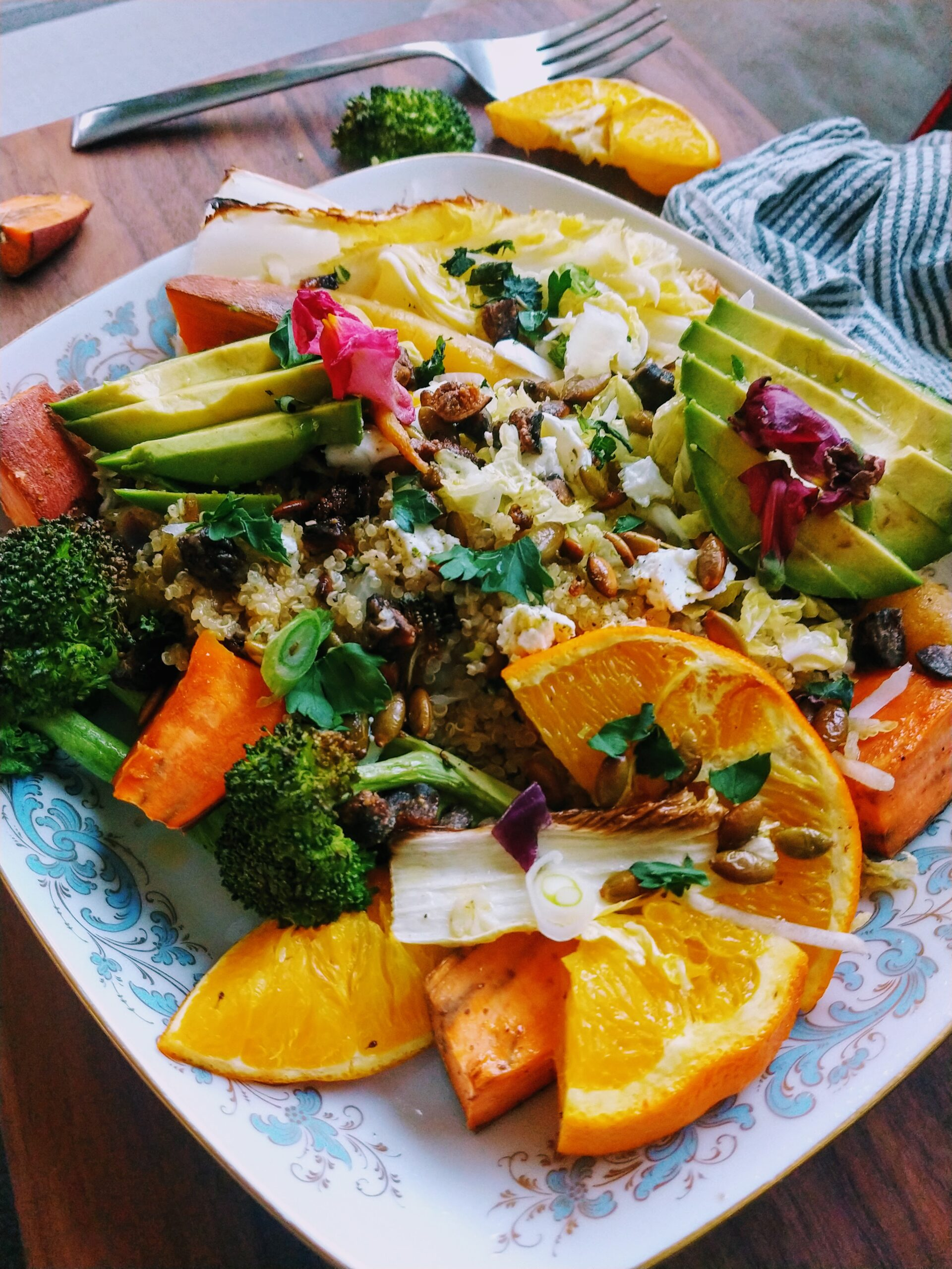 Warm Quinoa Orange Salad