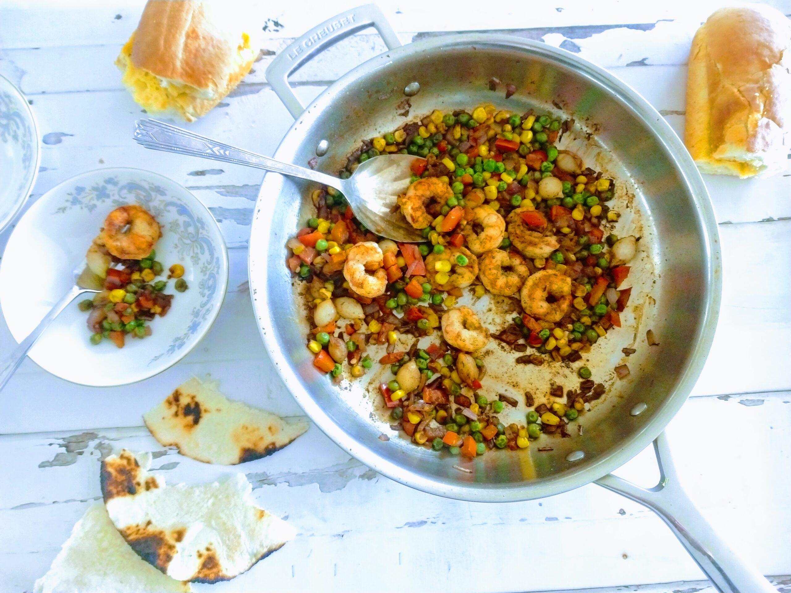 shrimp succotash