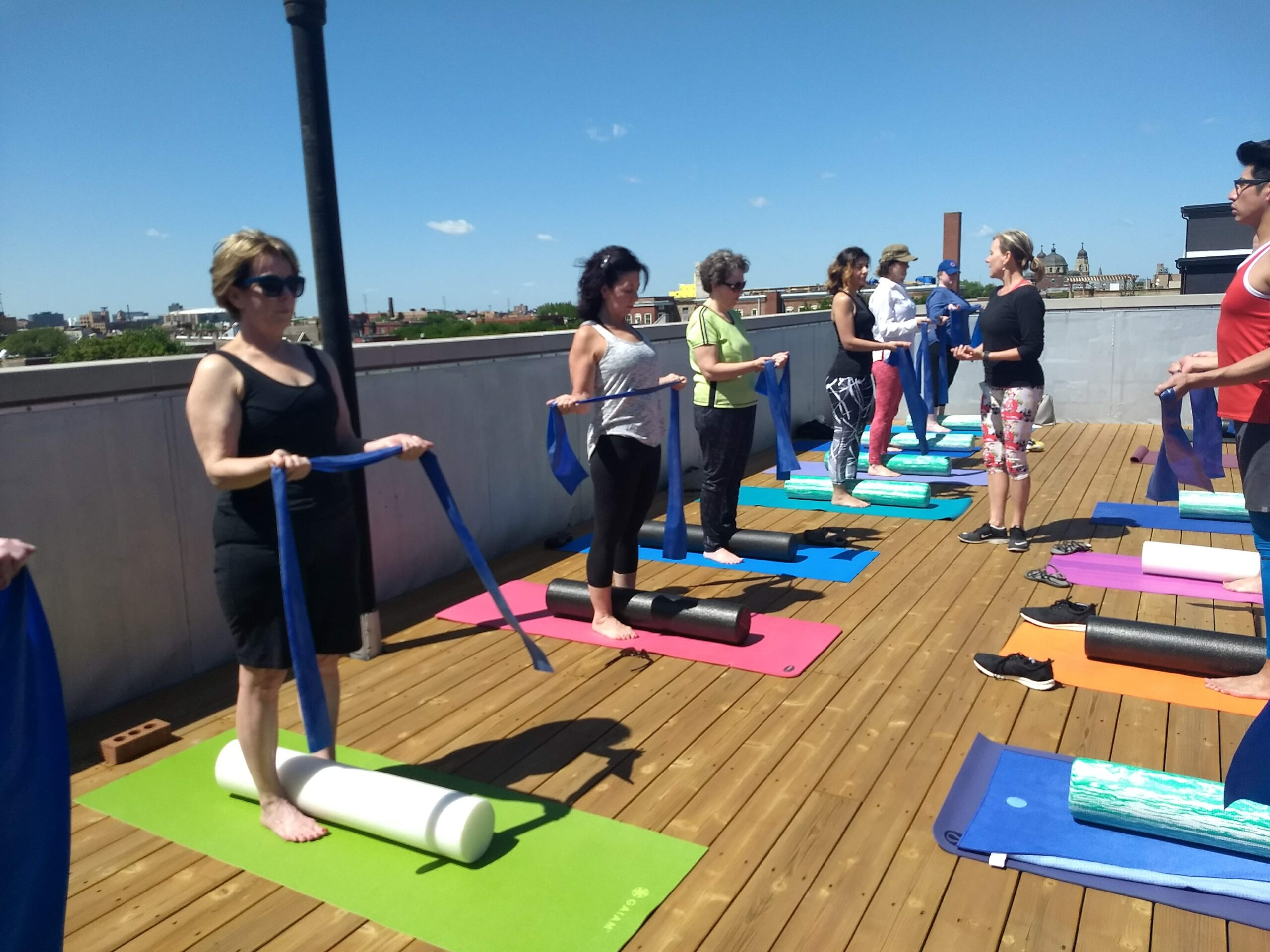pilates on the roof